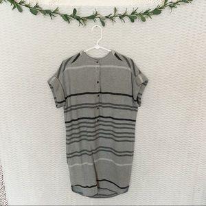 Banana Republic Heritage Gray Striped Dress